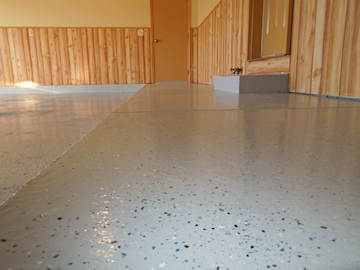 Residential & commercial epoxy floor coating for concrete & cement - Scott Anderson Concrete 